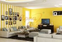 Drawing Room Interior Design / Apna Ghar offers a full range of interior design and interior architectural services which include planning, designing, project management, decorating services, deriving project costs, supervising, quality control, budget monitoring and coordination of the entire project.  / by Apnaghar