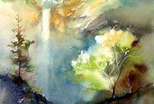 Akvarelleja / Omia töitäni vuosien varrelta sekä inspiroivia akvarelleja.