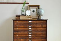 | Cabinets | / . Antique filing cabinets .