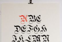 Blackletter: Gothic, Fraktur, Textura etc / Calligrafia