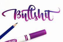 Brushpen / Calligraphy made with brushpen