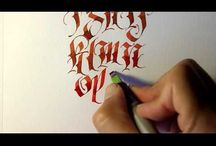 Calligraphy video or tutorial