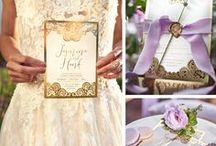 Boho Wedding Invitations / A selection of our Boho inspired wedding invitations. We use glamours gold foiling, laser cutting techniques and calligraphy style text to make stunning invites perfect for those outdoor, relaxed weddings.