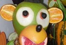 Figurine din fructe și legume
