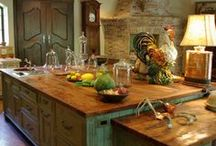 Rustic Decor / Rustic decor made up of wood, stone and a color palette straight from nature - all to give you that glorious cabin feel