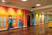 Town/Main Street - Children's Ministry Theme Decor / We have put together a grouping of our Town Theme Children's Ministry Projects. See more in our website Mural Gallery.