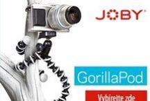 Joby Gorillapod / Ministativy Joby jsou skladné a přichytí se svou speciální konstrukcí všude. Ve městě, v přírodě. V nabídbce máme i magnetické a různých velikostí: od malých na mobil, po větší na digitální zrcadlovku.