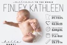 Pregnancy and Birth Announcements / A compilation of our favorite birth announcements from around the web.