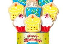 Birthday Decorated Cookie Bouquets/Gifts / It's the perfect birthday treat to wish a friend, family member or co-worker a very Happy Birthday! See all of our Birthday-themed cookie gifts here:  https://www.corsoscookies.com/shop-occasions/birthday.html