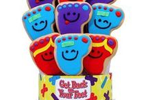 Get Well Soon Decorated Cookie Bouquets/Gifts / Wish a friend or family member well with our beautiful cookie bouquets and gifts. See our full line of Get Well Soon themed cookie bouquets and gifts on our website:  https://www.corsoscookies.com/shop-occasions/get-well.html