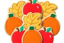Autumn & Fall Decorated Cookie Bouquets & Gifts / Fall and Autumn themed decorated cookie bouquets, gifts, and cookie favors  https://www.corsoscookies.com/holiday-seasonal-cookie-gifts/autumn.html