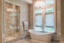 Baths in rooms / Various bathroom designs and styles