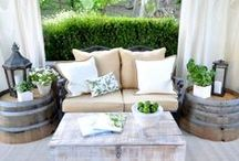 Patio Living / Outdoor patio set ups for large or small condo spaces