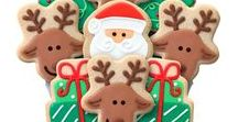 2016 Christmas Decorated Cookie Bouquets & Gifts / Check out our full line of holiday cookie gifts https://www.corsoscookies.com/holiday-seasonal-cookie-gifts.html