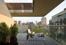 city garden and terraces