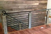 Railings/Fencing / There are many ways to make railings unique to your home.  Mixing materials such as steel, iron and different woods create something different that stands out but keeps everyone in!