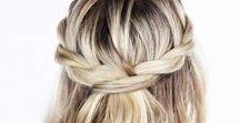 H A I R / Beach hair, braids, accessories, mermaid hair styles.