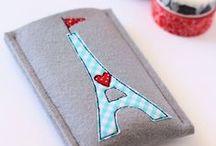 Fundas que inspiran... / Patrones, esquemas y tutoriales para tejer y coser fundas para móviles, tablets, libros, lapiceros...