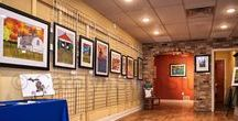My Studio - Holland, Michigan / I currently have my art studio and store front in downtown Holland, Michigan.  Here we offer art classes to children and adults of all ages.  Our store front includes a large array of greeting cards, coffee mugs, matted and framed prints, pillows, and many other unique gifts.  Most popular among my greeting cards are my puns. I've been creating a new pun with artwork every week hoping to spread some laughter and joy to everyone's day.
