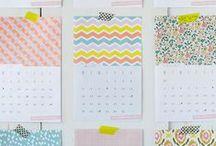 Pretty 2014 Calendars