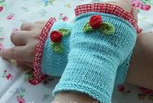 crochet & knit gloves and mittens