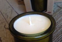 Our Candles /  Natural and biodegradable. Organic and handmade in small batches. Soy candles. 100% pure essential oils  unbleached cotton/hemp wick  NO perfumes, dyes, boosters or additives
