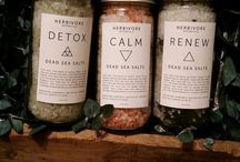 Our Baths / Salts, bubbles, bombs, milks, herbal infused soaks. Detoxing, pain relieving, distressing, beautifying.
