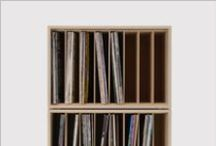 LP record storage - SHELVES / I like strait rows.