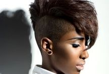 natural, colored short hair  / all types, all forms
