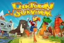 Cartoon Survivor / Coming soon to iOS and Android  Cartoon Survivor is an adventure runner, set in a beautiful vibrant 3D world where you run, jump and glide through death defying obstacle courses full of feisty creatures and hazardous environments. You must help Doo Doo get to the finish line before time runs out!