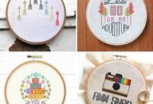 Crossing my Ts and Dotting my Is / Cross stitch inspiration and patterns