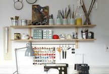 studio / art studio inspiration (( for digital work + designing, painting + drawing, quilting + sewing, knitting + textiles, and daydreaming ))