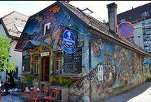 Street art in Ljubljana / Expressions of love, hate, political and social statements etc. Street art at every corner of Ljubljana.