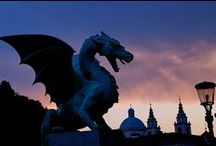 Ljubljana has Dragons / The Ljubljana dragon is part of the City of Ljubljana's coat of arms. It symbolises strength, courage and might. It is depicted on the Dragon Bridge and on top of the castle tower on Ljubljana's coat of arms.