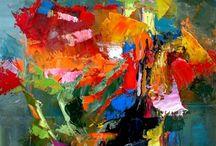 The blending of colour