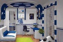 Drenge værelse / Drenge værelse. Inspiration - Dekoration - Indretning