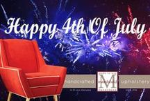 Red, White, & Blue!! / Red, White & Blue Fabric Selections From Marshfield Furniture.