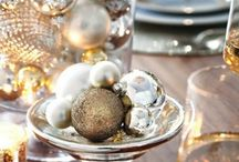 Gold and silver Christmas table