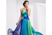 Bridesmaid dresses / Start vetoing guys. I'll prob end up doing it online - also the colours aren't necessarily as shown. I'll be going primarily for blue. Either all blue or one blue, purple and green. And Erin in same style but classy black :)