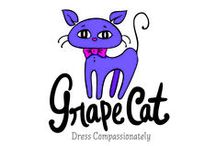 Grape Cat Vegan Clothing / Grape Cat is an online vegan retail store carrying all of your fashion needs from t-shirts to coats, and wallets to duffel bags, and everything in-between.  Grape Cat prides itself on carrying eco-friendly and U.S. made merchandise. Thank you for dressing compassionately.