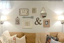 Home sweet home! / Home decoration ideas.