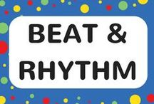 Beat & Rhythm Songs / Songs feature music rhythm games and beat games for kids.  Each song includes a FREE video song, FREE fun curriculum learning activities and FREE song lyrics.