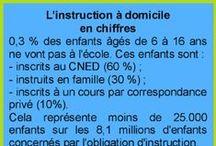 L'IEF en chiffres / Chiffres et statistiques concernant l'instruction en famille (école à la maison).