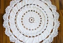 Doilies, mandalas, and afghans in crochet