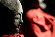 Ci : Jizo statue, Japan / Place of worship that Japanese often go
