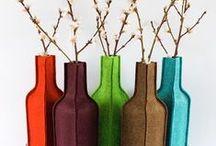 Felt design objects / design objecten van vilt / Mooi vormgegeven producten die je kunt gebruiken in huis of kantoor.