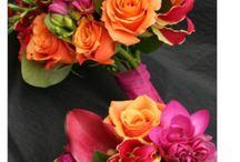 Thembisa Weddings & Events Colour Insprirations / Orange & Fuchsia