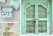 Thembisa Weddings Colour Inspirations / Colour inspiration board - Mint