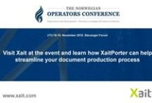 NOC / Xait will be exhibiting at the Norwegian Operators Conference 2015 (NOC2015)  15 NCS oil companies and their plans for 2016 is the key theme addressed at the 13th Norwegian Operators Conference in Stavanger November 18-19 2015.