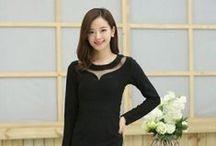 Fashion for girl / fashion, vogue, single, shoulder, rhinestone, embellished, lace, dress, sky, girl